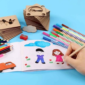 Image 2 - Preskool Baby Toy For Children DIY Painting Template Fun Graffiti Coloring Game Early Education Toy