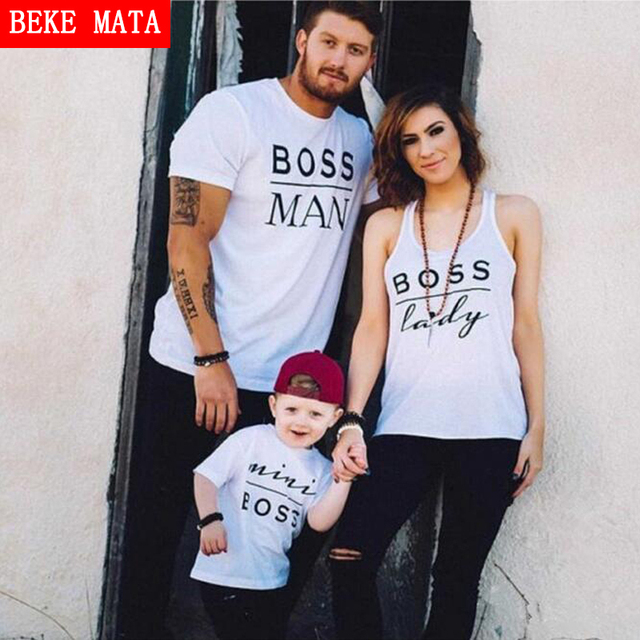 07e61bb5 BEKE MATA Family Matching Clothes 2019 Summer New Matching Mother Daughter  Father Son T-Shirt Cotton Family Look Clothing Outfit