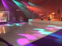 10ft x10ft Weiß LED Sternentanzfläche Mieten  Hochzeit Party Weiß LED Sternentanzfläche stufen-in Bühnen-Lichteffekt aus Licht & Beleuchtung bei