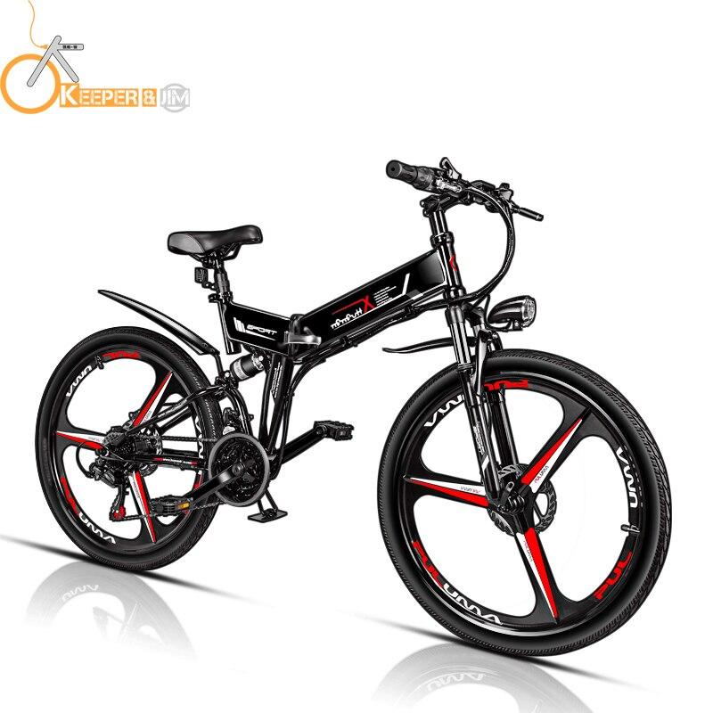 Bicicletta elettrica bicicletta elettrica portatile 26 pollici trolley 48 V mini auto al litio trolley