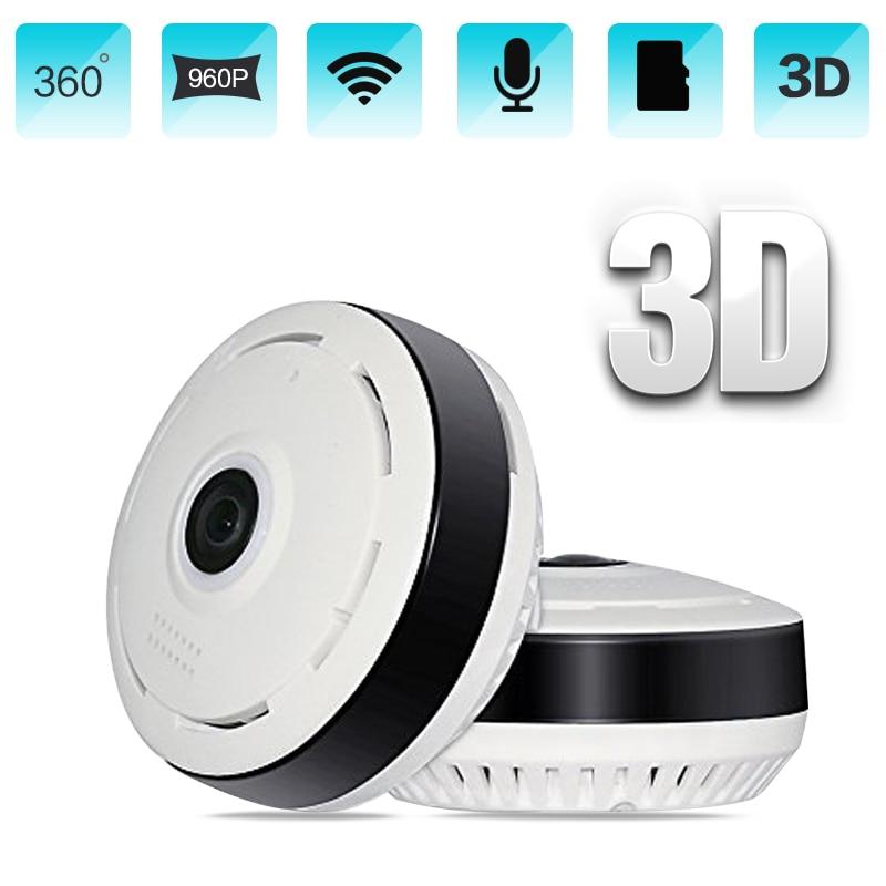 HD 960P Wifi IP Camera Home Security 360 Degree Panoramic Fisheye Mini CCTV Camera 1.3MP Home Surveillance Wireless Camera цена