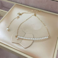 Women Pearl Necklace & Pendant Freshwater Pearl 2019 New Elegant Lady Fashion Jewelry Accessories Female Choker Necklace Chain