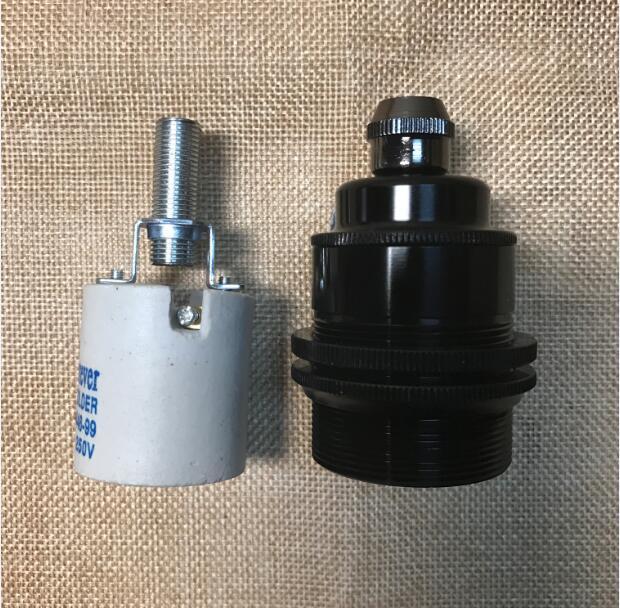 DIY Retro Vintage լամպի կրող E27 հիմքի վարդակից - Լուսավորության պարագաներ - Լուսանկար 5