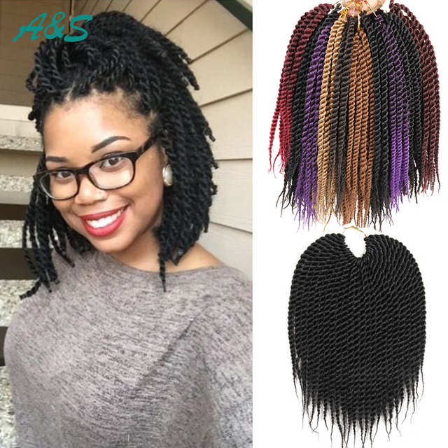 10 Senegalese Twist Hair Crochet Braids Curly Havana Mambo Braid Freetress Short