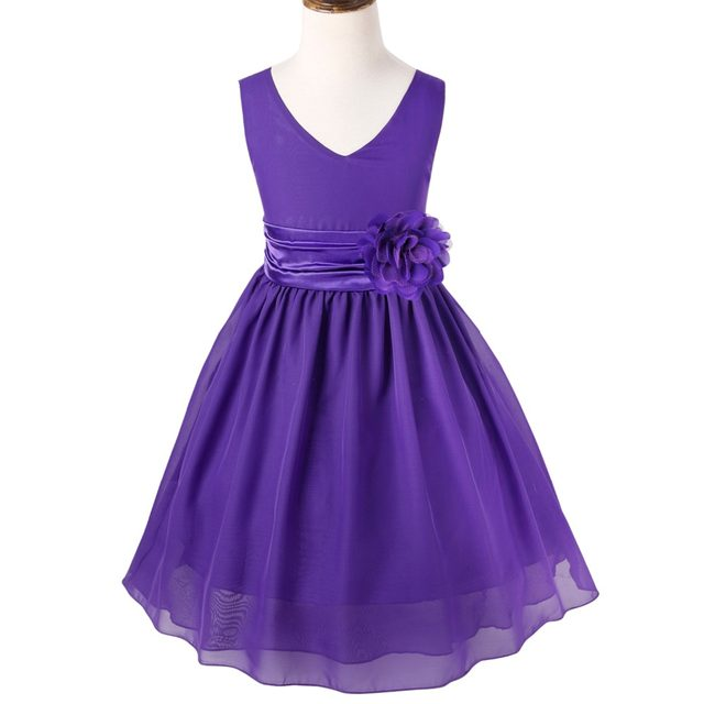 Online Shop Flower Girl Dress Princess Wedding Bridesmaid Pageant ...