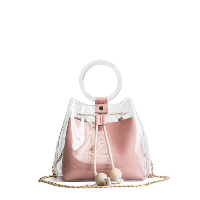 Clair Transparent cordon filles mignon Composite sac femme sacs à main marque de mode Mini petit sac à bandoulière pour les femmes
