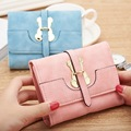 2016 Brand New Lovely Bear Women Wallet Female Leather Small Change Clasp Purse Money Coin Card Holder Carteras Girl wallets