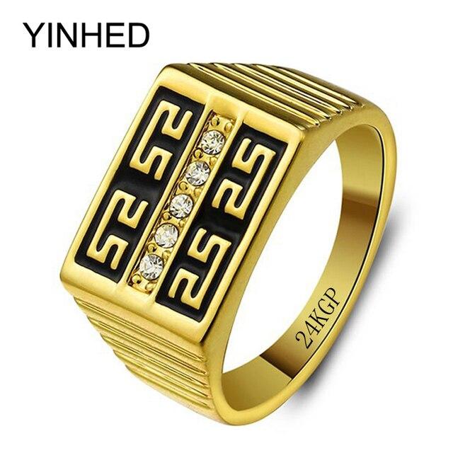 Aliexpresscom Buy YINHED Brand Luxury Wedding Rings for Men 24K