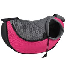 Pet Dog Carrier Bag Outdoor Travel Handbag Pouch Mesh Oxford Single Shoulder Sling Comfort Tote