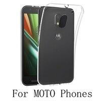 50/Lot Dla Motorola Moto E2 E3 E4 C Zasilanie M G5S G5 G6 G4 Z2 Plus X Force Styl Grać Droid Turbo 2 G3 TPU Guma Miękki Futerał