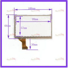 NEW 4.3inch 30PIN Capacitive touchscreens glass 106*66 touchsensor 106mm*66mm for GPScar compatble CTP43001 freeshiping