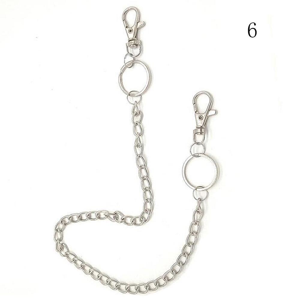 1-3 слоя рок-панк крюк брюк Брюки Пояс металлический кошелек серебряная цепь хип-хоп цепи ремни для женщин брюки аксессуары - Цвет: 6