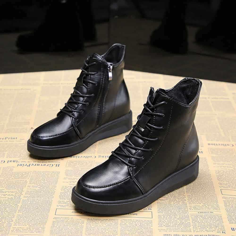 Moda Kadın İngiliz Kalın Tabanlı Lace Up Boots Sıcak platform ayakkabılar # TXD