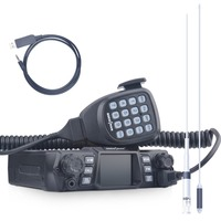SOCOTRAN 200CH двухдиапазонный 75 Вт/55 Вт Автомобиль Радио 136 174 МГц UHF 400 480 МГц 2 способа мобильного радио с кабелем для программирования и антенной