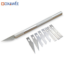GOXAWEE 9 лезвия для резьбы по дереву инструменты фрукты еда ремесло скульптурный гравировальный нож скальпель Режущий инструмент для домашнего творчества PCB ремонт DIY ручной инструмент