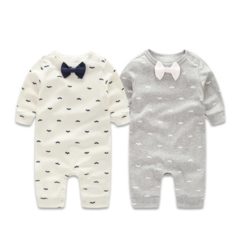 Baby Rompers Autumn Baby Boys Clothing Sets Gentleman Spring Newborn Baby Clothes Long Sleeve Baby Boy Clothes Infant Jumpsuits unisex baby boys girls clothes long sleeve polka dot print winter baby rompers newborn baby clothing jumpsuits rompers 0 24m