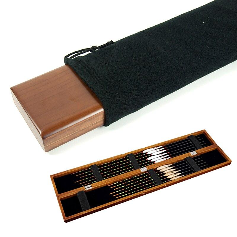 1 stücke Angeln Tackle Box Holz Angeln Float Fall Für Schwimmt Fischen Bobber Boje Betonnung Lagerung Für Float Angeln Box