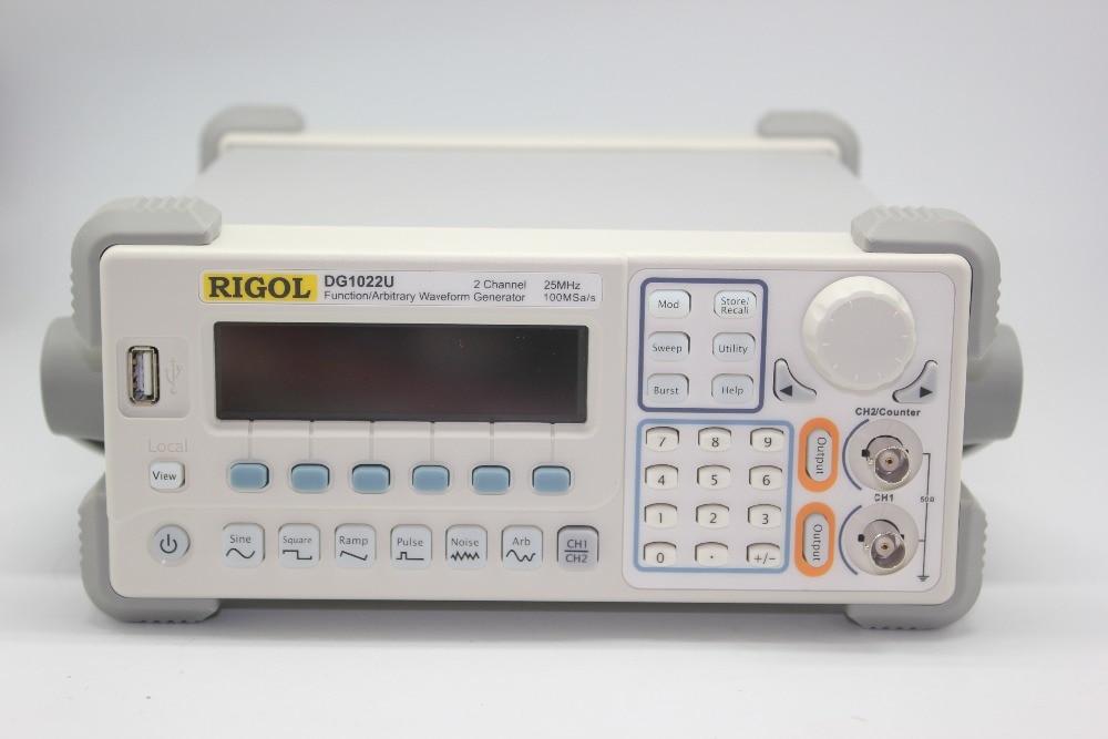 RIGOL DG1022U DG1022A Arbitrary Waveform Function Generator 25Mhz Harmonic Sine DG1022U hot selling signal generator rigol dg1022u updated from dg1022 2 channel 25 mhz function waveform signal generator
