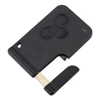 Carcasa con llave tarjeta botón 3 Compatible con Renault Clio Megane Scenic Grand Scenic Transfer su batería PCB y chip transpondedor