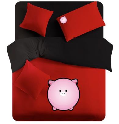 White Comforter Sets Queen King Red Black Pig Bedding Set Duvet Cover Fitted  Sheet Sets Kids King Size Bed In A Bag Sets In Bedding Sets From Home U0026  Garden ...