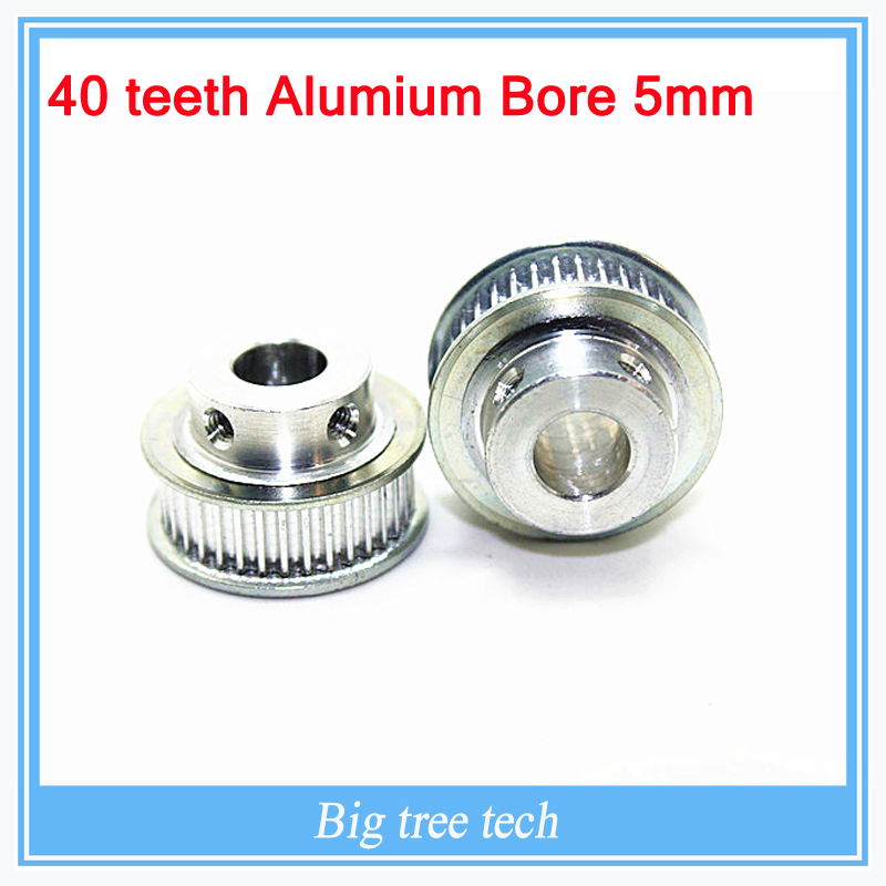 3D printer parts GT2 Timing Pulley 40 teeth Alumium Bore 5mm for width 6mm belt  with  FREE SHIPPING for 3D printer part