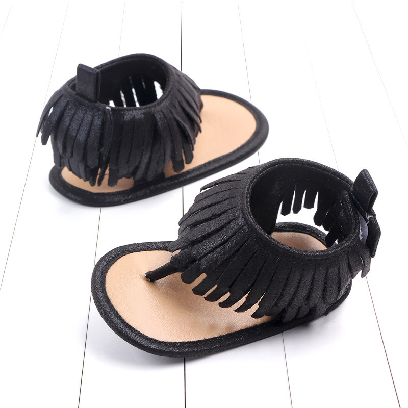 Baby comfortable sandals 2018 summer new boy girls beach shoes kids casual sandals children fashion Baby Girl Tassel Sandals (16)