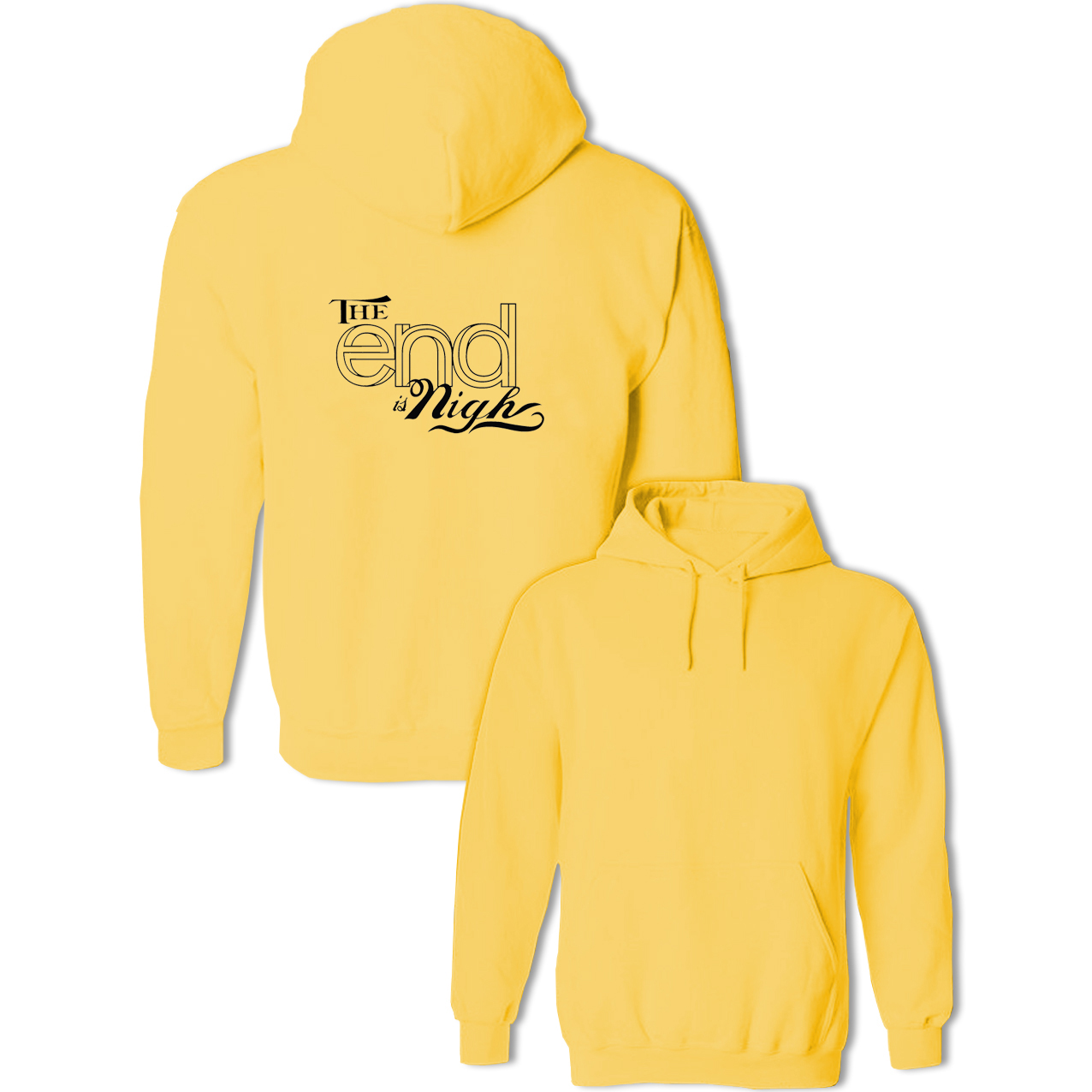 The End is Nigh Hip Hop Fashion Pullovers Sweatshirts Women Men Spring Autumn Hoodies For Girl Lady Jackets Hooded Streetwear