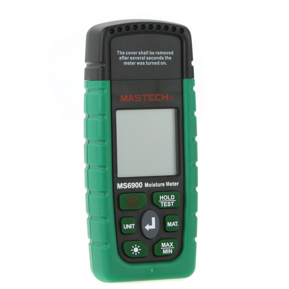 Hot Mastech MS6900 higrometre Mini Digital Moisture Meter Wood/ Lumber/Concrete Buildings Humidity Tester with LCD mastech ms6900 portable digital timber wood moisture meter lcd hygrometer temperature meter humidity meter tester