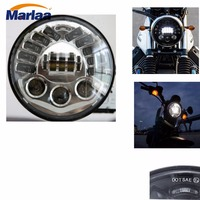 Marlaa Motorcycle 7 Round LED headlights for Harley Glide Fatboy with turn signal lights Parking lamp led