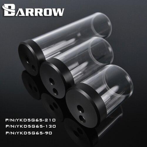 Barrow YKD5G65 90 130 210mm zylinder wassertank verlängerung tank für D5/MCP655 serie pumpe erweiterung verwenden computer wasserkühlung.