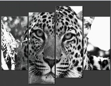 4pcs 5D Diamond Painting Diamond Mosaic 3d Cross Stitch Crafts Full Diamond Embroidery leopard Wall Stickers Wall Hotel Decor