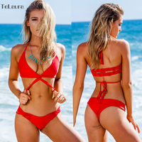2015 Diamonds Gradient Color Female Push Up Low Waist Sexy Bikinis Slim Strappy Women Fashion Pink