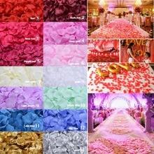 1000pcsFake Rose Petals Flower Girl Toss Silk Petal Artificial Petals For Wedding Confetti Party Event Decoration 14color choose other 14color 80