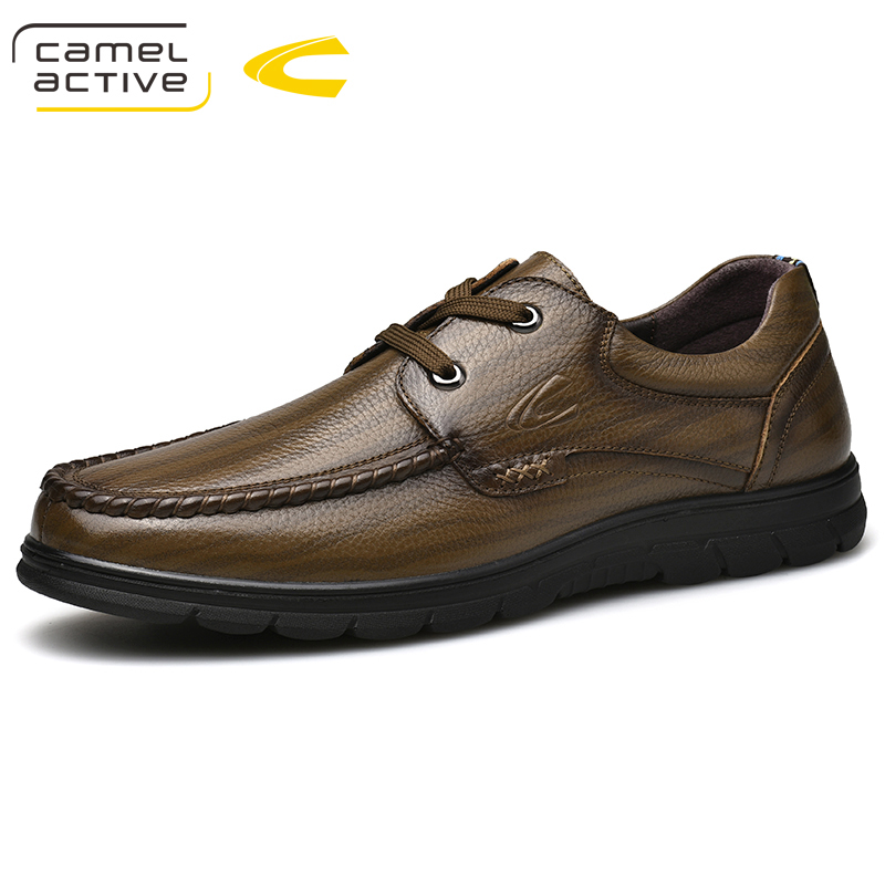 Camel Active New Genuine Leather Quality Casual Male Shoes For Sneakers Wedge Spring/Autumn Comfortable Fashion Walking Footwear все цены