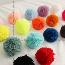 5pcs pompoms 60mm -2.4 inch yarn pompom balls 17colors handmade quality material for accessory
