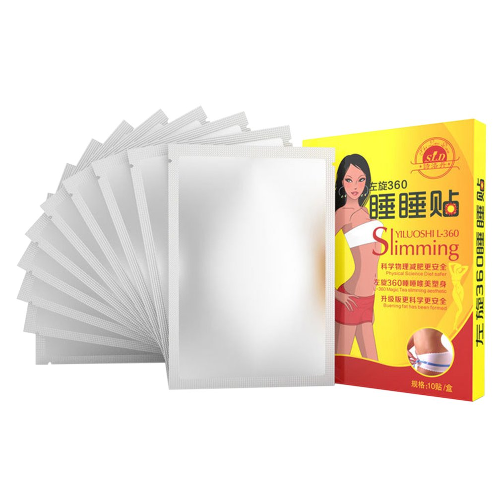 10pcs Slimming Patch Body Shaping Loss Weight Products Slim Patch Sleeping Navel Stick Health Care Fat Burning Lazy Paste Stick