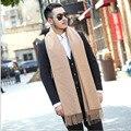 2017 зимний шарф моды для мужчин новый bufanda mujer Сплошной цвет кашемир бахромой шарф Показать джентльмен властная дикий шарф A211