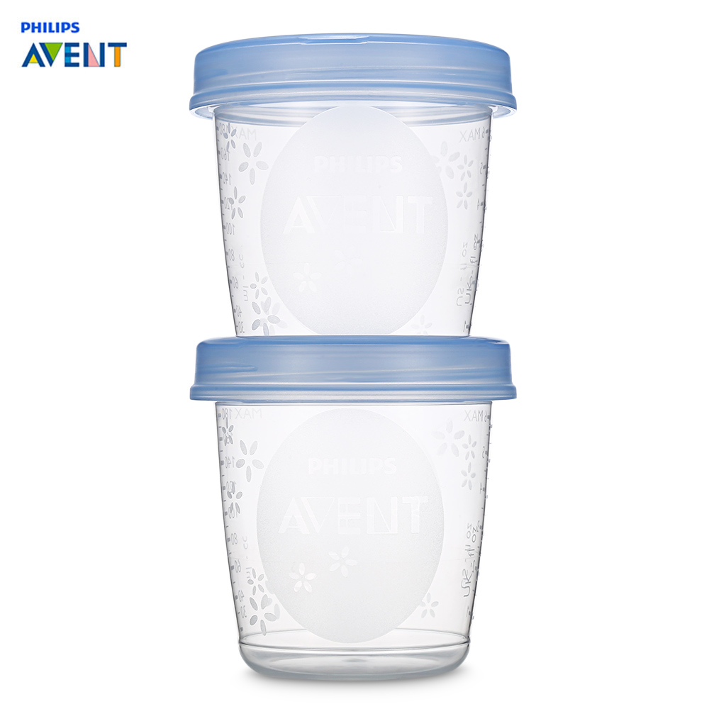 AVENT 5 pièces bébé nourriture stockage tasse lait maternel stockage tasse ensemble joint conservation lait fruits jus tasse 6 oz/180 ML boîtes