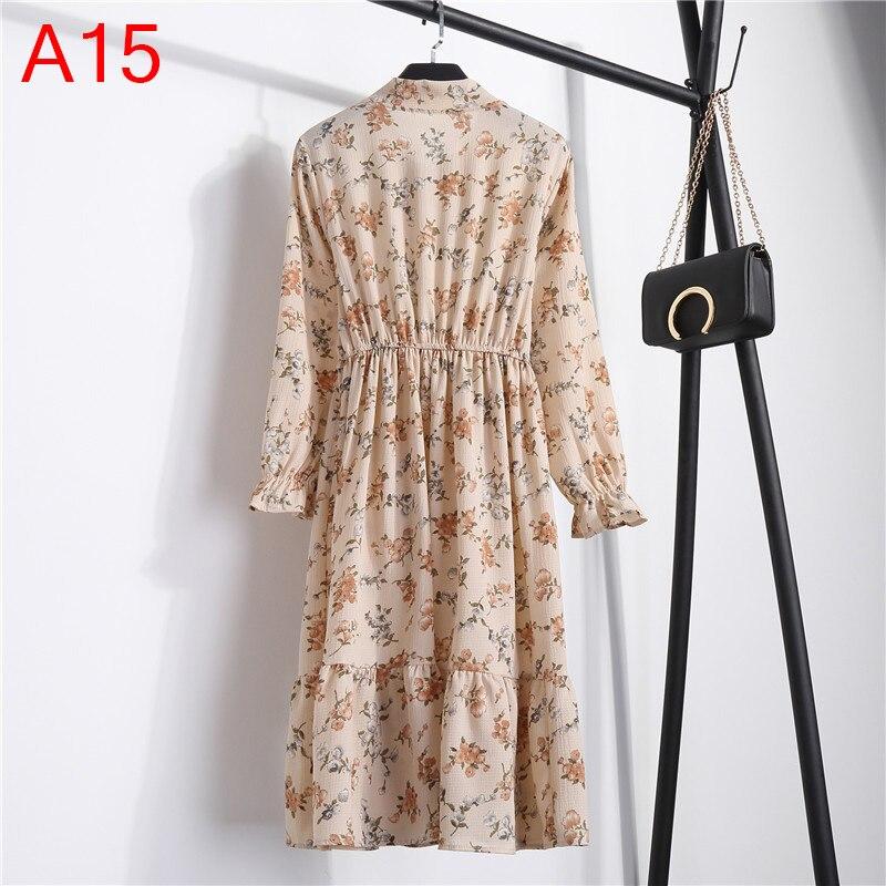 Korean Black Shirt Vestidos Office Polka Dot Vintage Autumn Dresses Women Winter Dress 19 Midi Floral Long Sleeve Dress Female 51