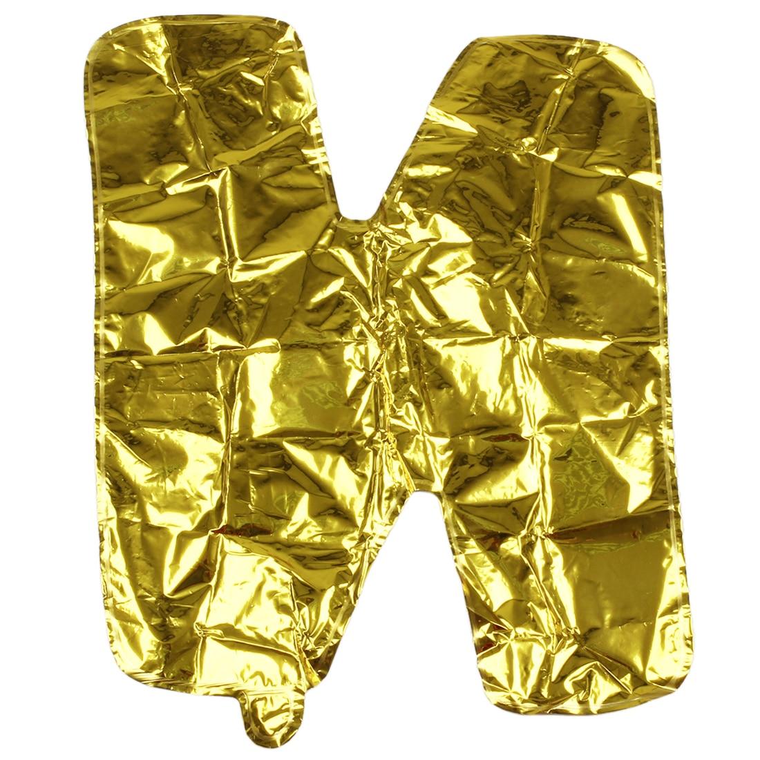 Festival decoración mylar globo letra grande n (de oro)
