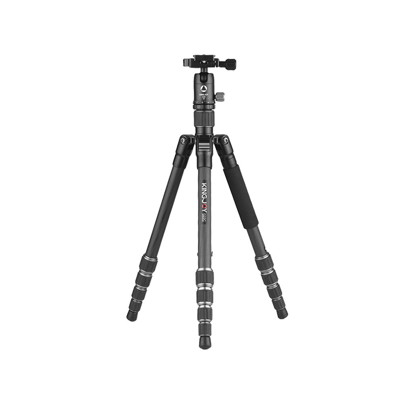 Kingjoy G22C+G00 Portable Travel Camera Tripod Monopod With 360 Degree Ball Head 5-Section For Canon Sony Nikon Dslr Ildc Came image
