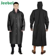 Thicken EVA Outside Raincoat for Men Women Waterproof Rain Coat With Hat Outdoors Travel Camping Fishing Rainwear Suit
