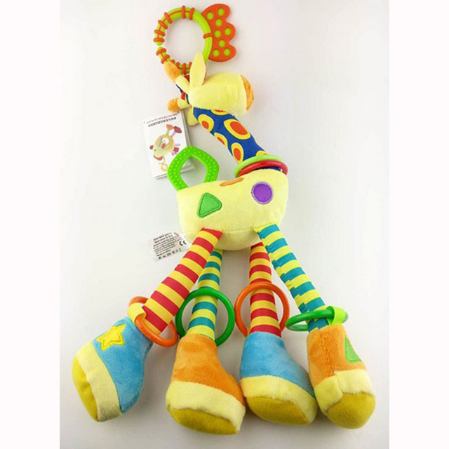 Baby Cute Rattle Cloth Giraffe Dolls Baby Toy For 0-3 Years old Toys For Newborns Mobility In The Crib Toy Pram