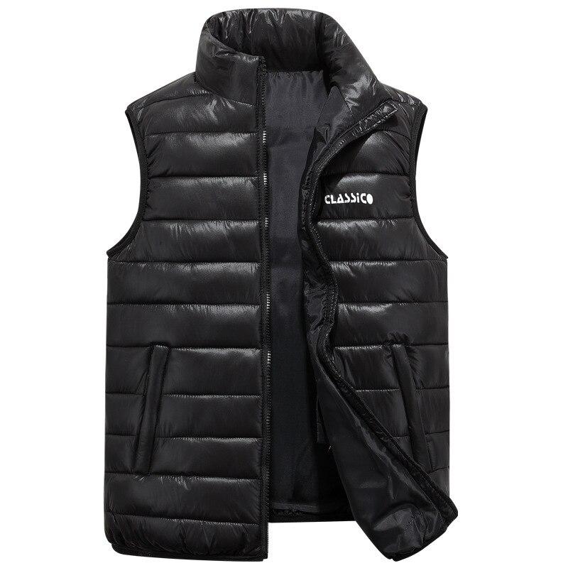 2018 Winter Men's Sleeveless Vest Big Size S 6XL Homme Casual Cotton Coats Male Cotton Padded Body Warm Waistcoat Jackets XCZ30