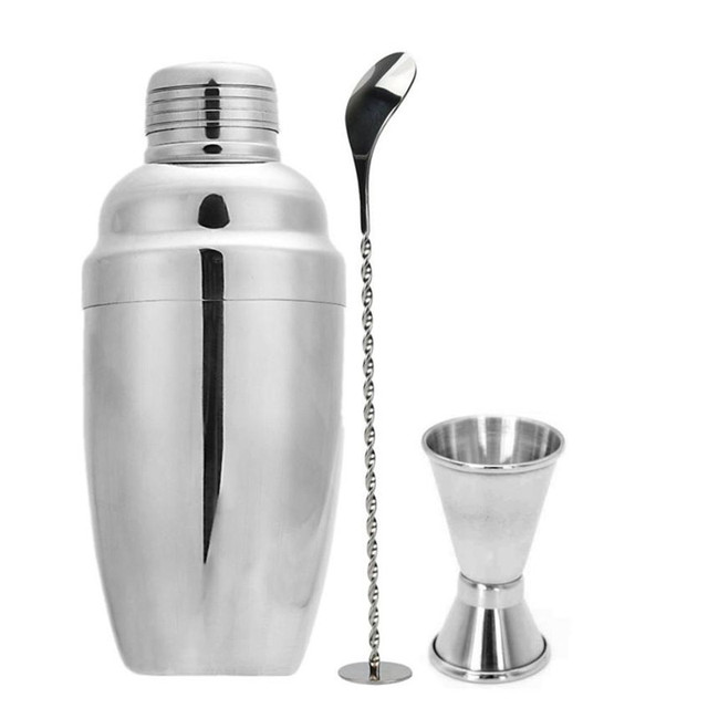 Bartender Cocktail Shaker with Mixing Spoon