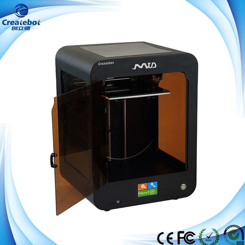 One Two Extruder Black Desktop Mid 3D Printer Machine