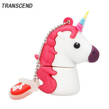 Transcend Cartoon rainbow horse usb memory stick personalized gift large capacity 4GB 8GB 16GB 32GB 64GB unicorn USB flash drive