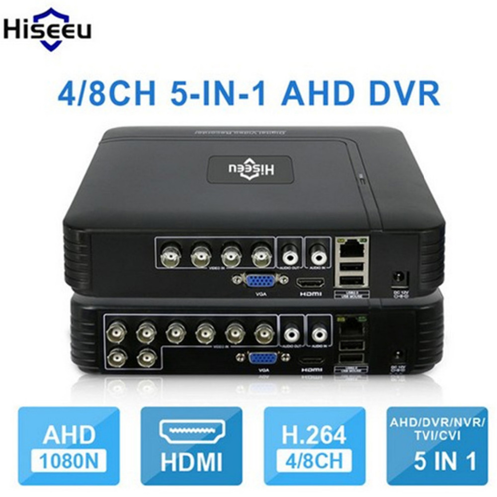 AHD 1080N 4CH 8CH CCTV DVR Mini DVR 5IN1 For CCTV Kit VGA HDMI Security System Mini NVR For 1080P IP Camera Onvif DVR PTZ H.264 hiseeu 8ch 960p dvr video recorder for ahd camera analog camera ip camera p2p nvr cctv system dvr h 264 vga hdmi dropshipping 43