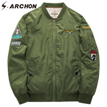 S.ARCHON US MA1 Military Air Force Bomber Warm Men Jacket Winter Thermal Windbreaker Tactical Jacket Casual Plus Size Army Coats