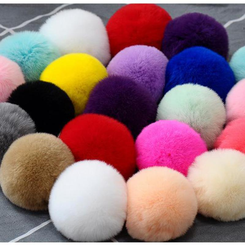 Pompom 6cm 8cm Soft Pompones Fluffy Plush Crafts Diy Pom Poms Ball Furball Home Decor Garment Hat Accessories Sewing Supplies